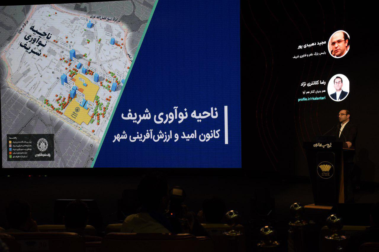 مجید دهبیدی پور معرفیپارک علم و فناوری شریف