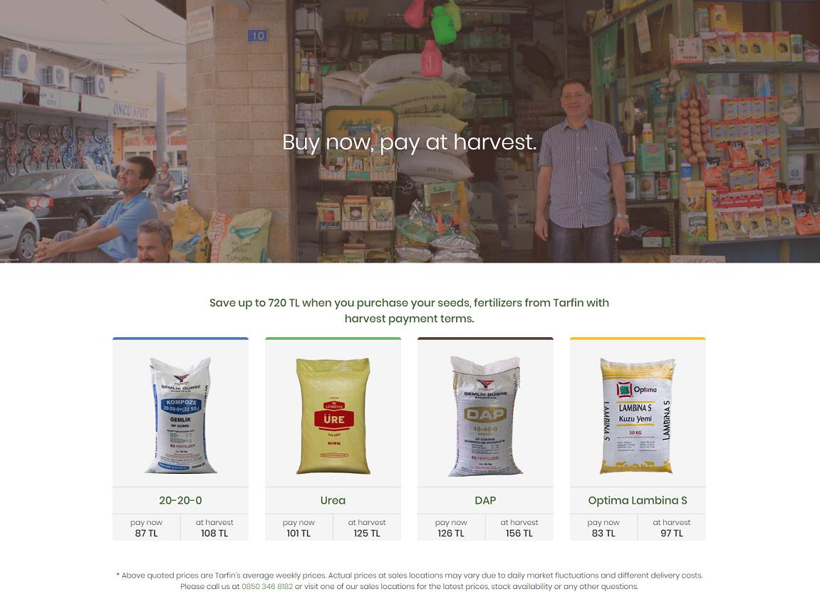 وبسایت ترفین یک استارتاپ ترکیه ای در حوزه کشاورزی