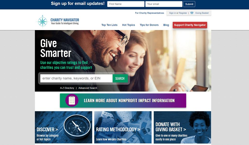 استارتاپ Charitynavigator