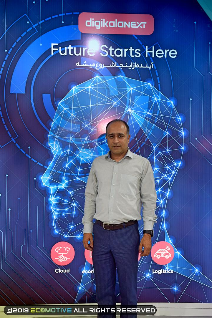 امیر صالحی مدیر عامل دیجی کالا نکست در نمایشگاه الکامپ
