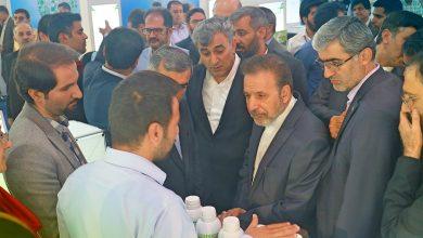 بازدید محمود واعظی مدیر دفتر ریییس جمهور از نمایشگاه توانمندی های روستایی و عشایری
