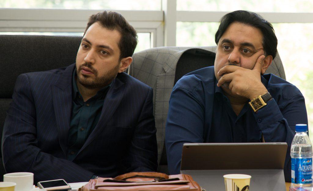 دکتر لشکر بلوکی مشاور وزیر اقتصاد و وحید شامخی مدیرعامل مدیریت ثروت ستارگان