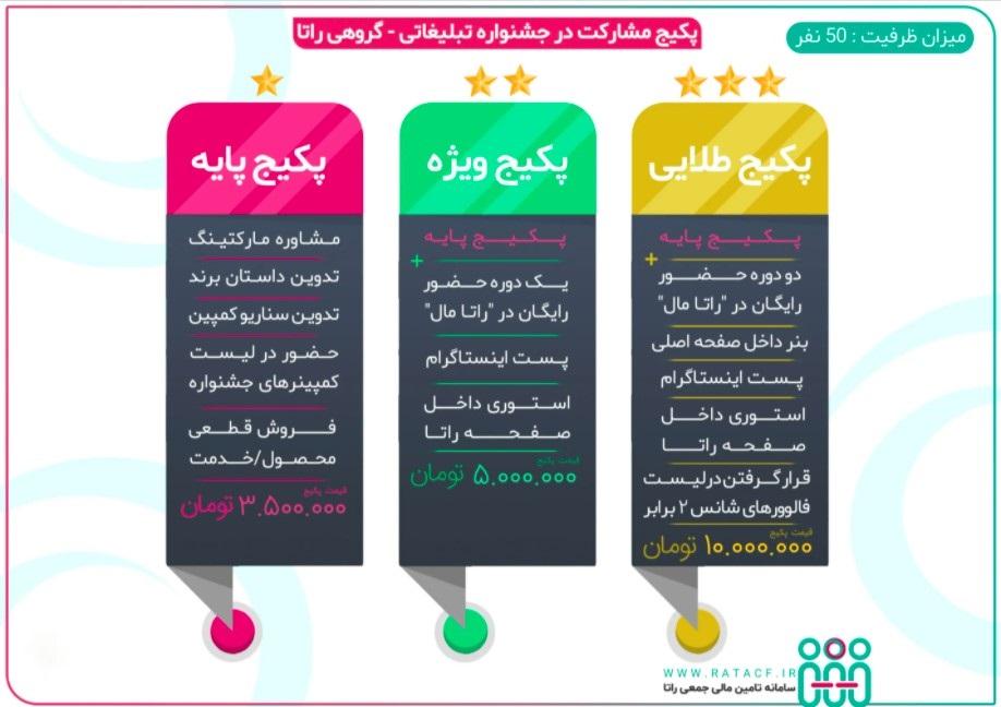 پکیج مشارکت در جشنواره تبلیغاتی - گروهی راتا
